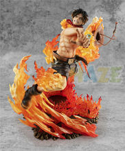 Portgas.D.Ace MAX 15th Anniversary Special Ver. Action One Piece Figure Statue Collection Anime Figure Toys In Box
