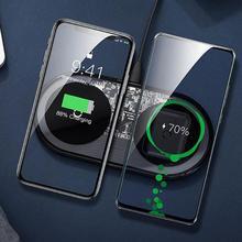 Baseus15W Dual Spiegel Type C Draadloze Snelle Opladen Dock Station Voor Iphone 11 Pro Max X Xs Voor Samsung galaxy Note 10 Plus
