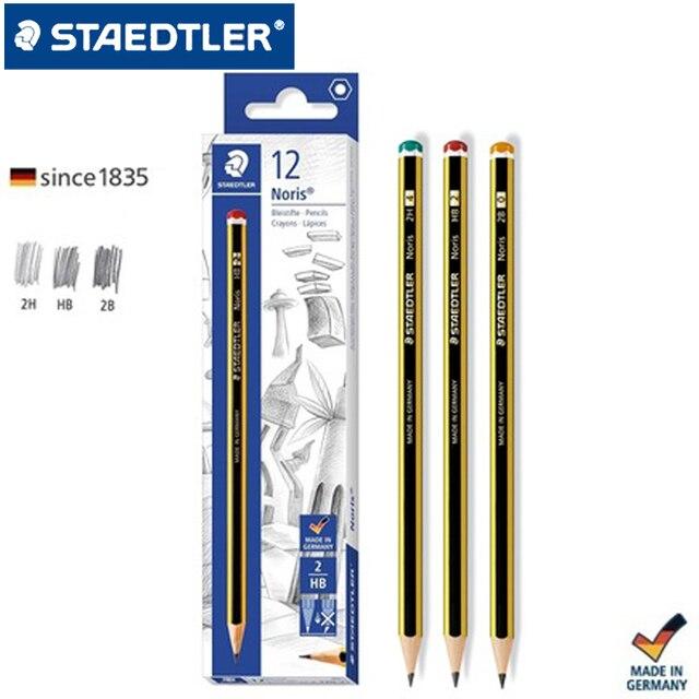12 قطعة من أقلام الرصاص القياسية من STAEDTLER 120 قلم رصاص للكتابة أدوات مكتبية للمدارس أدوات مكتبية أقلام رصاص للرسم باللون الأسود الرصاص HB