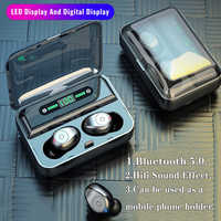 Wireless earphones bluetooth headset gamer hearing aids LED Display handfree in ear headphones with microphone for smartphone