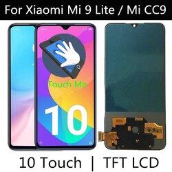 TFT LCD dla XIAOMI Mi cc9 / MI 9 LITE wyświetlacz LCD ekran dotykowy wymiana Digitizer zgromadzenie dla XIAOMI MI9 LITE M1904F3BG LCD