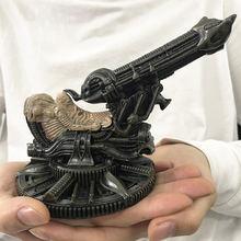 [Vip] coleção h. r. giger avp alienígena vs predador prometheus espaço jóquei alienígena artilharia modelo estátua resina figura de ação brinquedo