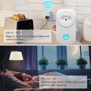 Image 2 - WIFI חכם ברזיל תקע עם כוח צג BR חכם שקע שקע אלחוטי קול שליטה לעבוד עם Alexa Google בית