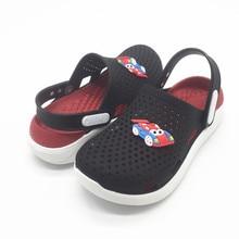 Детские сандалии для мальчиков, обувь для пляжного сада, нескользящая обувь для желе из ПВХ Резиновый ТПУ, сандалии, тапочки для мальчиков, размер 30, 31, 32, 33, 34, 35