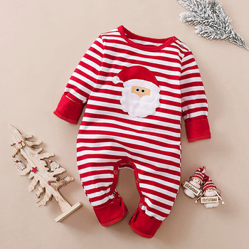 Romper Baby Romper Winter Baby Clothes Baby Girl Clothes Baby Romper ropa bebe Long Sleeve Christmas Striped Romper Free Ship bardot flute sleeve florals romper