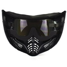 Men Women Outdoors Mask With Goggles Impact Resistant Mask For Halloween Paintball Game Movie Props Party Full Face