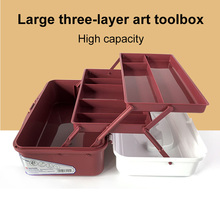 Art Toolbox Fine Art Pencil Box Sketch Tool Pen Toolbox Student Large-capacity Double/three-layer Painting Storage