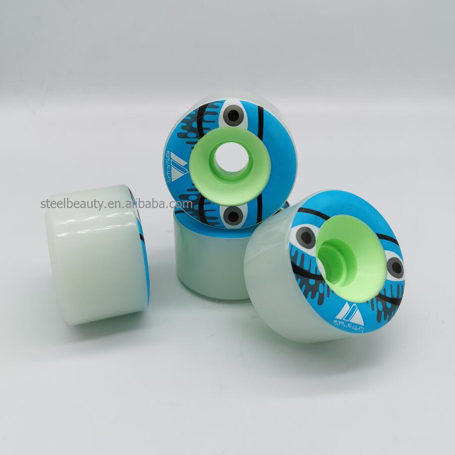 Good Quality Big PC Core Longboard Skateboard Wheels 65mm Skate Wheel 90% Rebound 65*42mm 80AAK Evening Light Shinning