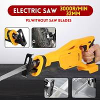 20V Electric Saw Reciprocating Saw Variable speed for Wood Metal Cutting DIY Power Saws With Saw Blades Without Battery
