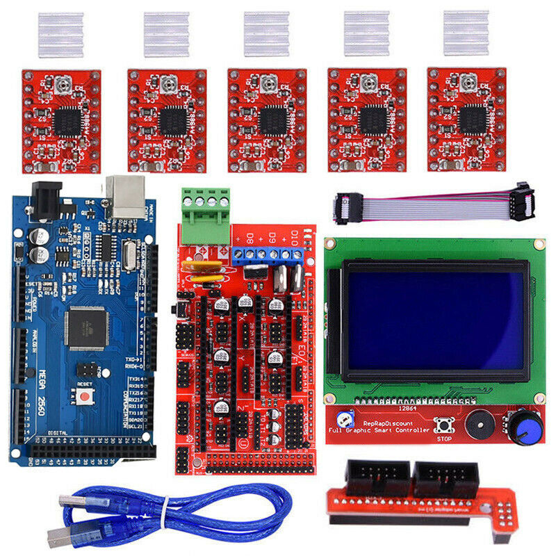 RAMPS 1.4 Mega2560 12864 LCD Display Controller A4988 Parts For Arduino Reprap