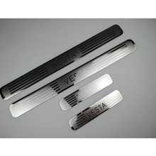 For Lada Vesta 2015 2016 2018 2019 Door Sill Scuff Plate Stainless Threshold Kick Pedal Protectors Car Styling Accessories 4pcs