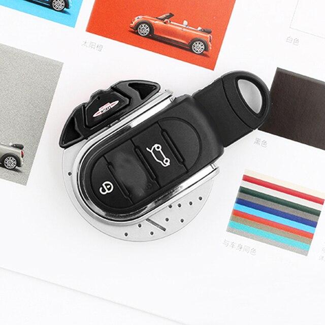 Ijdmcy vermelho jcw disco de freio forma chave fob escudo capa para mini cooper 3rd gen f55 f56 f57 f54, gen2 f60 countryman chave inteligente 1