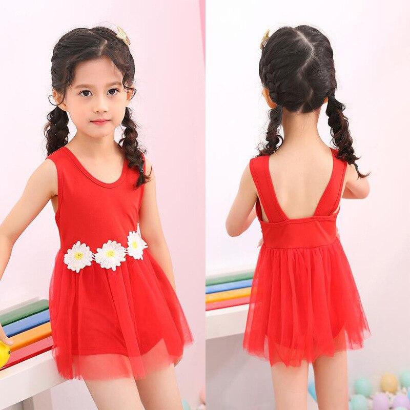 KID'S Swimwear Girls 2-6-Year-Old 2019 New Style Korean-style Lace Cute Princess Baby Girls One-piece Swimwear Wholesale