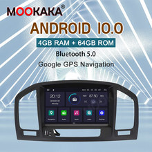 Autoradio Android 10, Navigation GPS, lecteur multimédia, stéréo, sans DVD, 2din, pour voiture Buick Regal, Opel Vauxhall Holden Insignia (2008 – 2013)