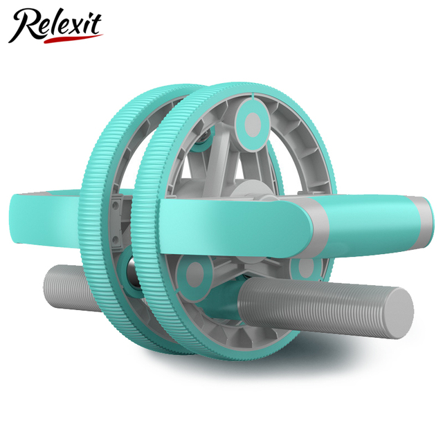 14 In 1 Two-wheeled AB Roller Abdominal Wheel Massage Roller Muscle Trainer Exercise Portable Home Gym Workout Fitness Equipment 1