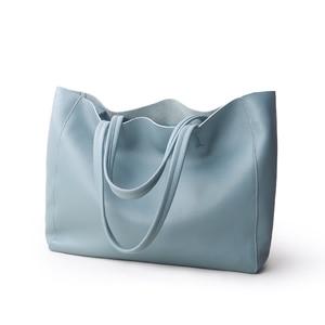 Image 4 - ผู้หญิงหรูหรากระเป๋า Casual Tote หญิง Light Blue แฟชั่นไหล่กระเป๋าถือ Lady Cowhide หนังแท้กระเป๋าสะพายกระเป๋า