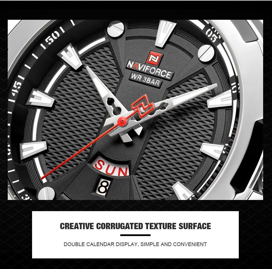 H61005413c1c9494f9bda188e64586ecdM Men's Watches Top Luxury Brand NAVIFORCE Analog Watch Men Stainless Steel Waterproof Quartz Wristwatch Date Relogio Masculino