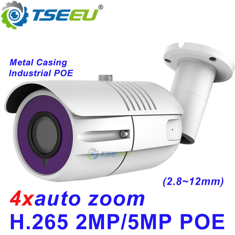 2,0 MP 5MP H.265 2.8 ~ 12mm 4xzoom sony Metall Wasserdichte compatiable mit Hikvision NVR Dana APP kugel projekt POE IP Kamera