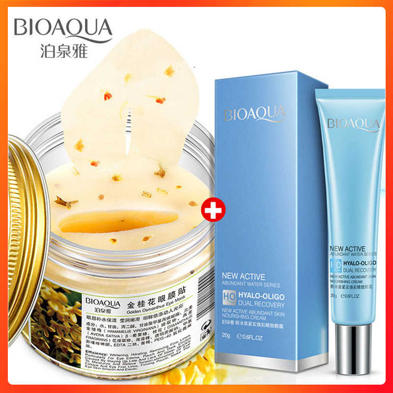 Bioaqua Goud Osmanthus Eye Patches Masker Voor Eye Care 80 Pcs Fijne Lijntjes Oogcrème Hydraterende Remover Dark Cirkel Anti-Wallen