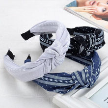 Fashion Bow Knot Hairband Women Hair Head Hoop Simple Sweet Girls Hair HeadbandBow knotted wide-brimmed headband headband hairpi(China)