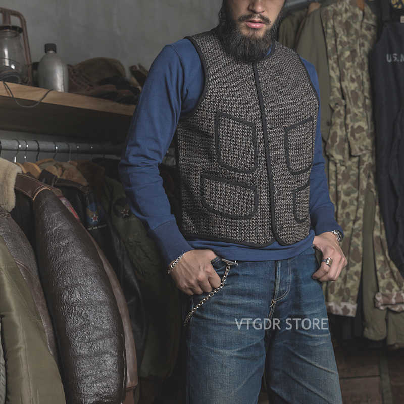 Bronson Vintage Salt & Pepper Jacket Wool Early Vest Winter Men's WorkWear Coat