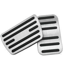 Anti-Slip Performance Foot Pedal Pads for Honda 10Th Civic,Auto No Drilling Aluminum Brake and Accelerator Pedal Covers Silver B(China)
