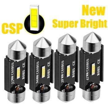 Nowe żarówki Festoon CSP LED 31mm 36mm 39mm 41mm C5W C10W Super Bright sufitowa lampa do samochodu Canbus bez błędu wnętrze auta lampy do czytania tanie i dobre opinie RAISE STAR CN (pochodzenie) Lampki do czytania 1000LM Festoon-36mm 12 v Uniwersalny
