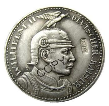 Germany German Bavaria coin 5 mark silver 1913 Otto Silver Plated/Copper Copy Coins image
