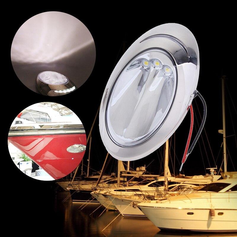 1 paire de lumières d'amarrage de bateau LED lumières d'amarrage de bâti latéral de coque pour le Yacht etc. de hors-bord marin IP66 300Lm accessoires de bateau Marine
