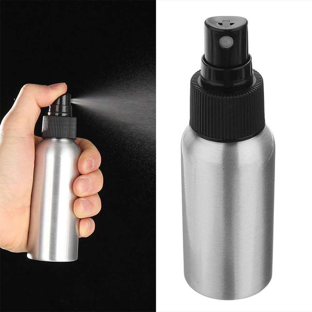 New Aluminum Spray Bottle Water Hairdresser Sprayer Hair Salon Refillable Bottles Mist Aluminum Refill Bottle Make Up Accesorios