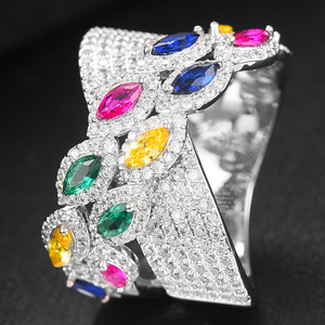 Image 3 - GODKI Luxury Bagutte Cut Bold Rings with Zirconia Stones 2020 Women Engagement Party Jewelry High Quality