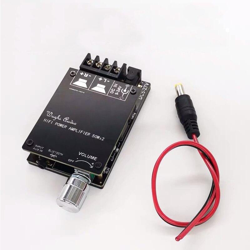 Bluetooth 5.0 Digital 50W+50W TPA3116 Audio Power Amp For Speakers 30W~200W HiFi Stereo TPA3116D2 Aux Amplifier Board 6