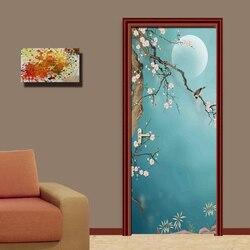 DIY remont Mural tapeta wodoodporna w stylu Retro drukuj Decor naklejki samoprzylepne drzwi do sypialni obraz nowy projekt domu w Naklejki na drzwi od Dom i ogród na