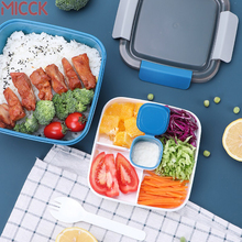 MICCK Heated Lunch Box For Kids School With CompartmentsTableware Kitchen Food Container Microwaveable Bento Japanese Style