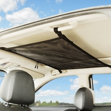 For Car Ceiling Storage Mesh Auto Interior Roof Luggage Net Bag Truck Automotive Organizer Car Accessories 31*21''