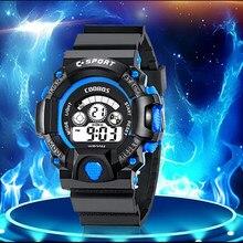 Marca superior dos homens de luxo 3 bar à prova dwaterproof água relógio digital coobos fitness esporte relógios presente para homem data relógio masculino zegarek męski