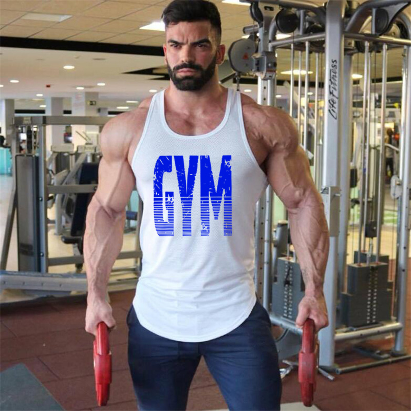 Cotton Mens Tank Tops Shirt Gym Tank Top Fitness Clothing Vest Sleeveless Man Canotte Bodybuilding Ropa Hombre Man Clothes Wear