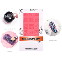 Nail Art Silicone Printing Template Nail Mold Powder Chrome Pigment Dust Environment-Friendly 3D Relief Decorating Manicure Tool