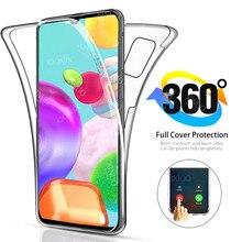 360 полностью двойной силиконовый чехол для Samsung Galaxy A41 прозрачный корпус Передняя Задняя крышка для Samsung Gala A40 A 41 41A Чехлы coque