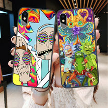 Vrede Onder Werelden Rick En Morty Soft Tpu Grappige Cover Voor Iphone X Xr Xs Max Se 5 5S 6 6S 7 7Plus 8 8 Plus Siliconen Case Fundas(China)