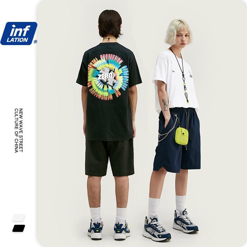 INFLATION 2020 Men Fashion T-Shirt Hip Hop Streetwear Harajuku Men's T-shirt Summer Casual футболка мужская  Men T-Shirt 1140S20