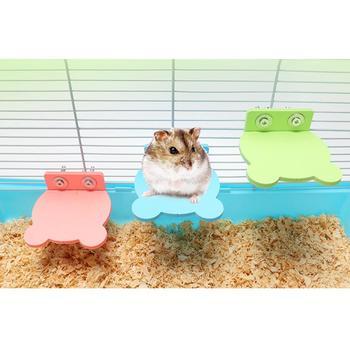 Chomik platforma wieszak stojący kreatywna uniwersalna klatka dla chomika platforma ptak okoń platforma drewniany talerz zabawki zabawna zabawka tanie i dobre opinie CN (pochodzenie) wood Hamster Platform