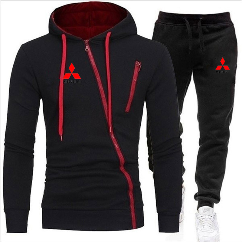Autumn And Winter New Brand Men's Suits Fashion Casual Sports Suits Wholesale Hot Sale Zipper Shirt + Track And Field Sports Pan