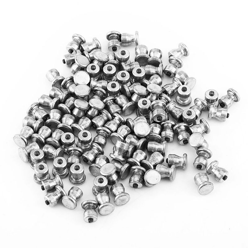 2019 New 100PCS Car Tire Spikes 8 Mm Tungsten Steel Magnesium Alloy Anti-Slip Spikes For Car Tires Winter 8*10mm