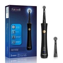 Fairywill – brosse à dents sonique électrique FW-2205, étanche, électronique, têtes de rechange, Rechargeable par USB, pour adulte
