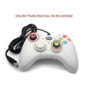 Image 2 - 2 pz/lotto Silicone ThumbStick Grips Tappi Gamepad Joystick Pulsante Della Copertura di Caso per Sony PS4 /PS3 per XBOX One 360 controller