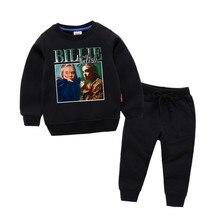 Childrens Billie Eilish Print Cotton Girl Kids Pullover Tops Baby Boys Autumn Clothes Sweatshirts