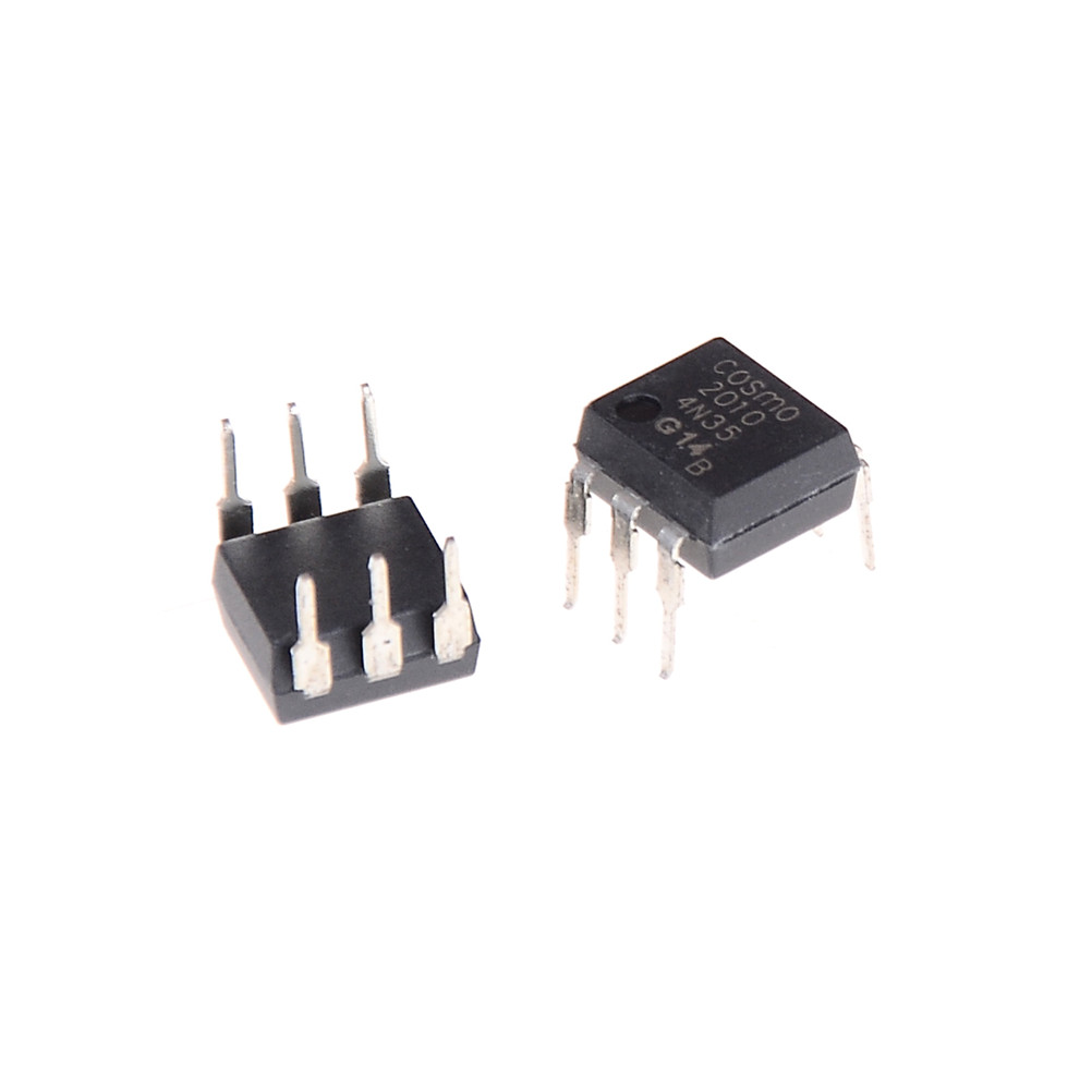 10 Pcs/lot 4N35 FSC Optocouplers Phototransistor 30V DIP6 IC Connectors