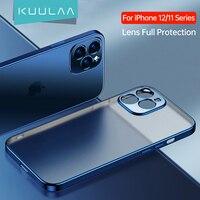 KUULAA Objektiv Volle Schutz Telefon Fall Für iPhone 11 12 Pro Max 12 Mini Überzug Silikon Weichen TPU Fall Zurück abdeckung Coque Shell
