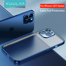 KUULAA Lens Full Protection Phone Case For iPhone 11 12 Pro Max 12 Mini Plating Silicone Soft TPU Case Back Cover Coque Shell